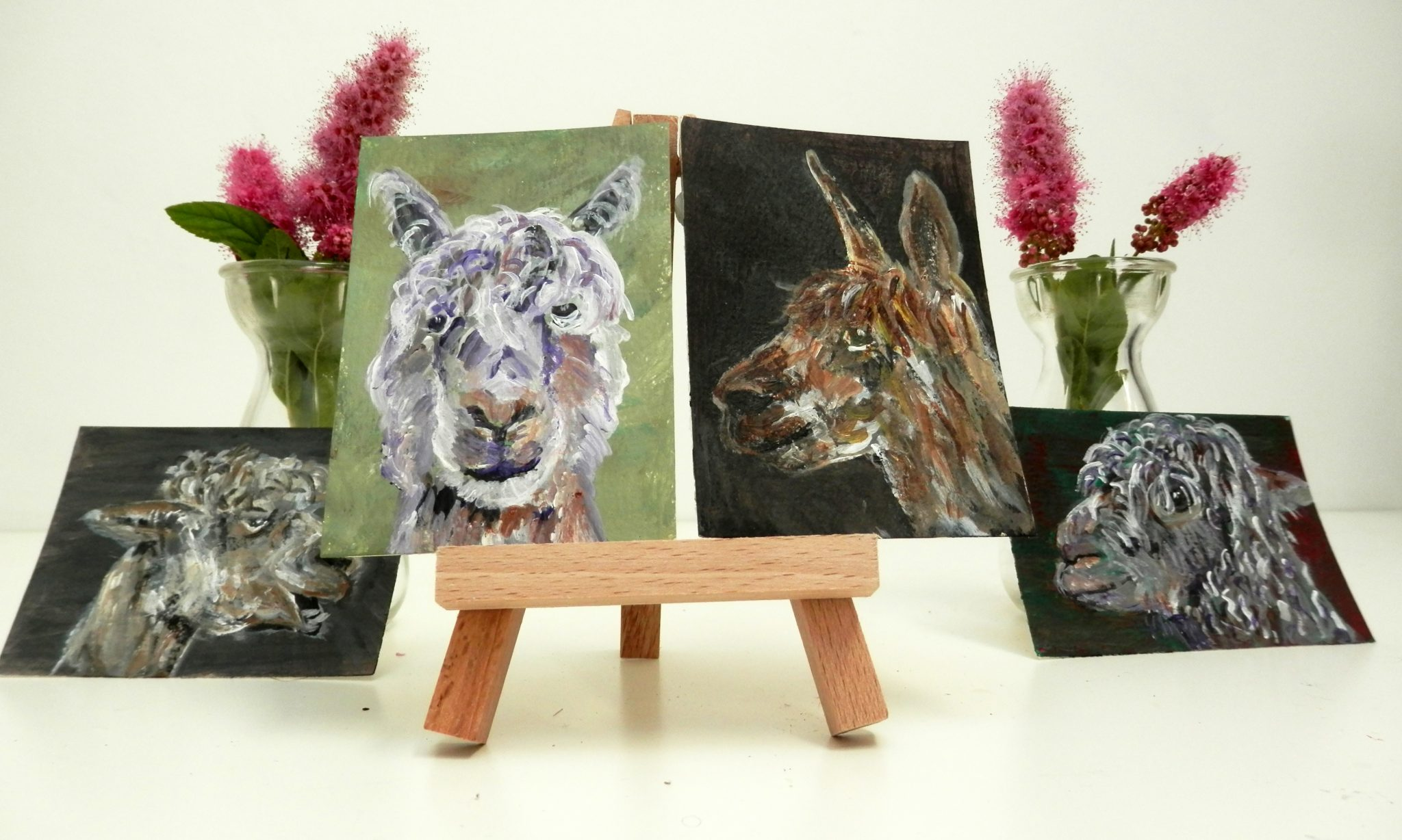 alpaca art, llama art collection, cute alpaca gift
