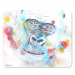blue gorilla placemat by Caroline Skinner Art