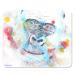 blue gorilla placemat by Caroline Skinner Art